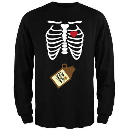 Little Pumpkin Brewing Baby Pregnant Skeleton Halloween Costume Long Sleeve (Halloween 5 Little Pumpkins)
