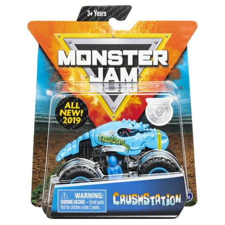 Monster Jam, Official Crushstation Monster Truck, Die-Cast Vehicle, Crazy Creatures Series, 1:64