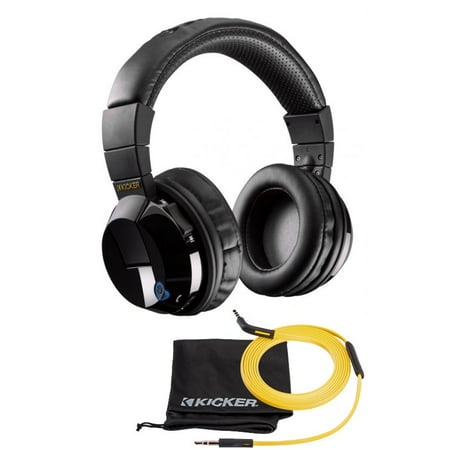 New Kicker HP402BT Wireless Cordless Over Ear Audio Bluetooth Stereo Headphones