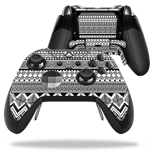 MightySkins Protective Vinyl Skin Decal for Microsoft Xbox One Elite Wireless Controller case wrap cover sticker skins Black Aztec
