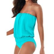 Women Swimwear Beachwear One-piece Bathing Suit Waist Thong Swimsuit Plus size Dress