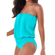 Women Swimwear Beachwear One-piece Bathing Suit Waist Thong Swimsuit Plus size Dress