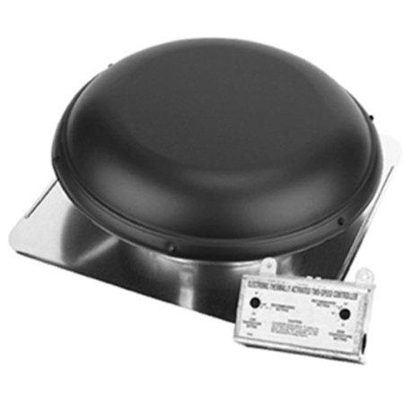Air Vent 53847 Roof-Mount 2100-Sq. Ft. Attic Ventilator, Black - Quantity 1
