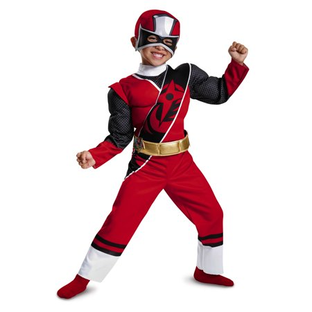 Red Ranger Ninja Steel Toddler Muscle Costume - Ranger Costumes