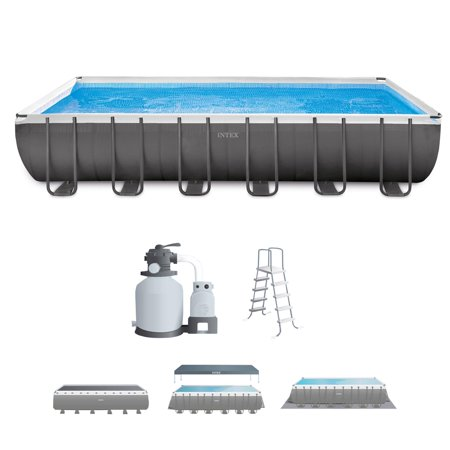 Intex 24 39 X 12 39 X 52 Ultra Frame Rectangular Above Ground Swimming Pool Set