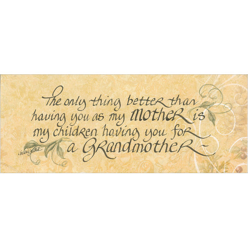 LPG Greetings Life Lines The Only Thing Better .Grandma by Lori Voskuil-Dutter Textual Art Plaque