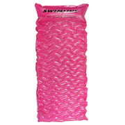 """70"""" Inflatable Pink Bubble Swirled Swimming Pool Air Mattress Float"""