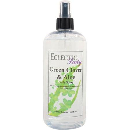 Green Clover And Aloe Body Spray, 16
