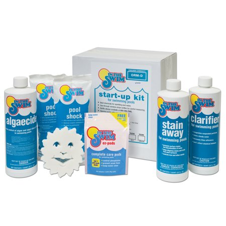 In the swim deluxe pool opening chemical start up kit up to 15 000 gallons for Swimming pool supplies walmart