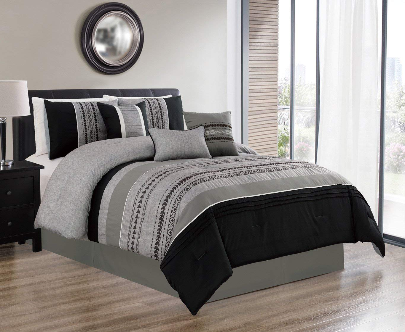HGMart Bedding Comforter Set Bed In A Bag - 7 Piece Luxury ...