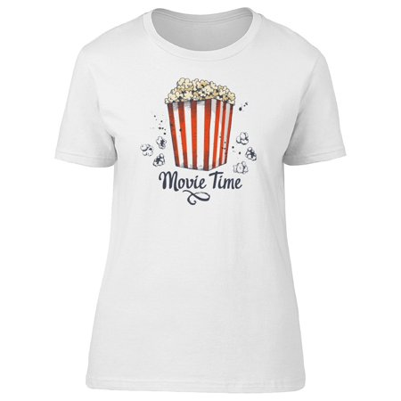 Movie Time Popcorn Doodle Tee Women's -Image by Shutterstock