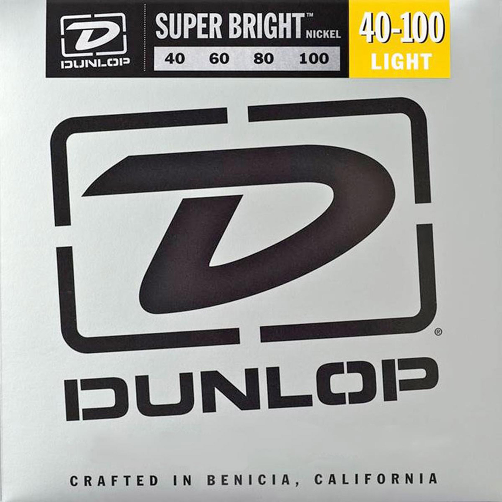Dunlop DBSBN40100 Super Bright Nickel-Plated Steel Bass 4 String Set, .40-.100 by Dunlop