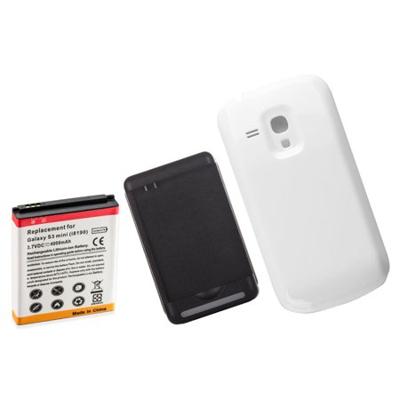 promo code 84818 6c716 4000mAh Extended Battery + White Battery Cover + Charger for Samsung Galaxy  S3 Mini i8190