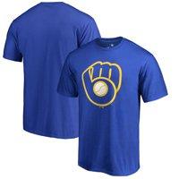 Milwaukee Brewers Fanatics Branded Primary Logo T-Shirt - Royal