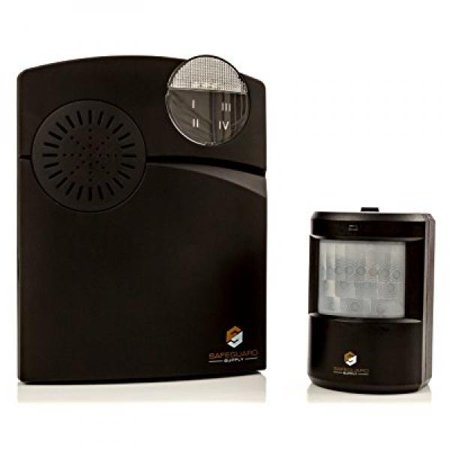 entrance alert - wireless entrance alert chime receiver & wireless pir sensor - long range 1000' door entrance