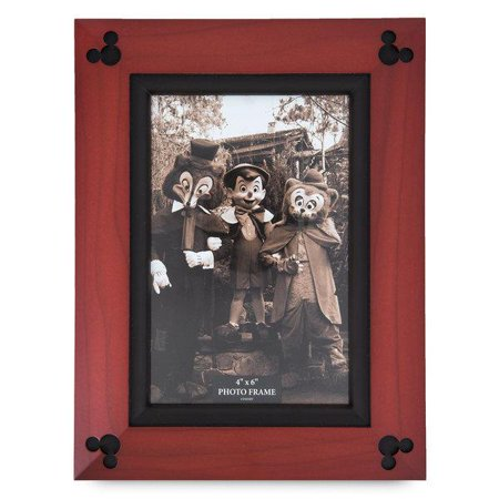 Disney Parks Mickey Mouse Icon Wood Photo Frame 4 x 6 New with - Mickey Mouse Frame