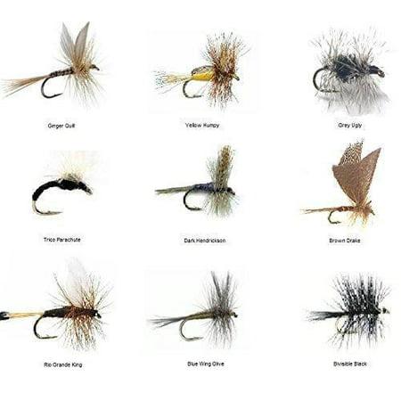 Feeder Creek Fly Fishing Flies Assortment - 36 TROUT CRUSHING Dry Mayflies in 18