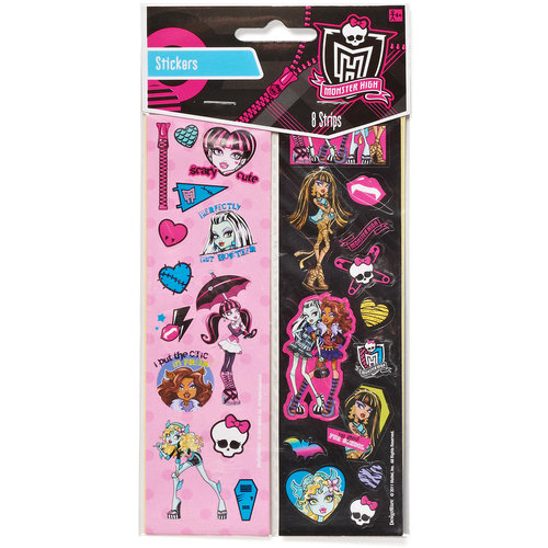 Monster High Sticker Sheets Party Favors, 8 Count