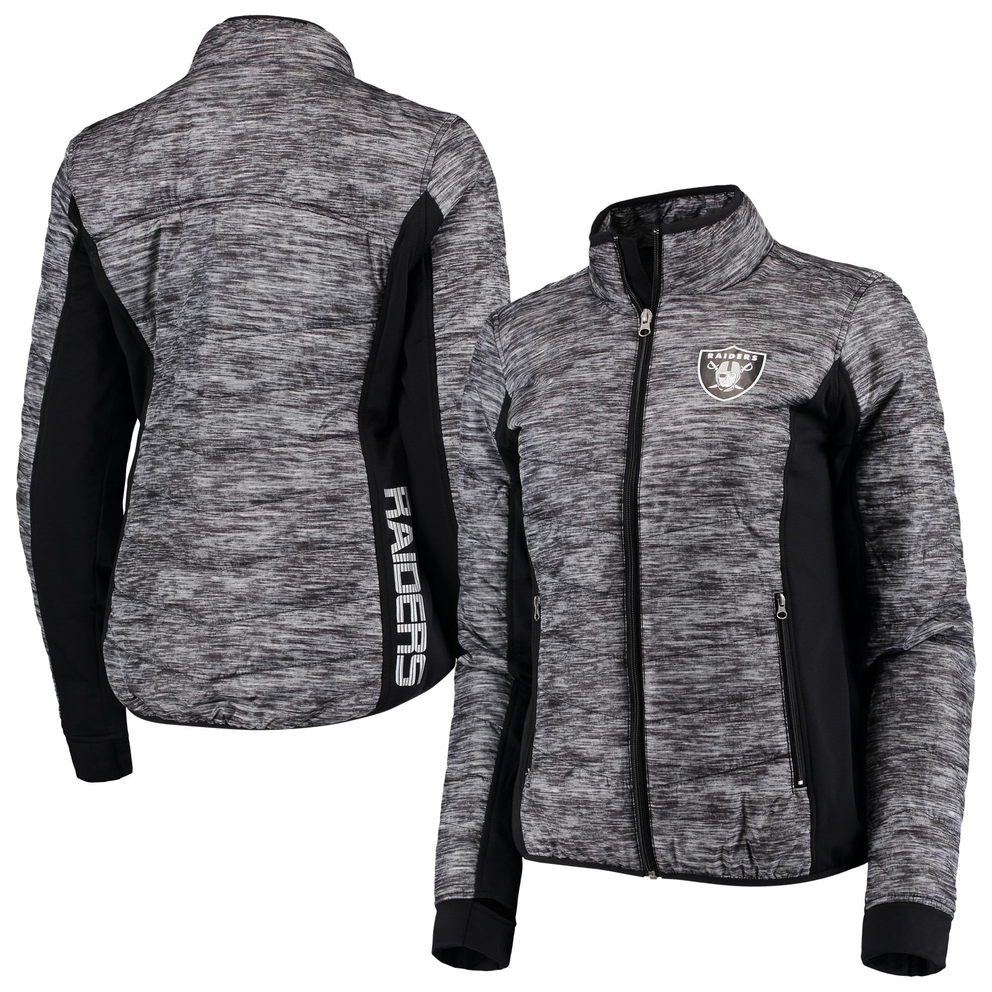 Oakland Raiders G-III 4Her by Carl Banks Women's Huddle Full-Zip Jacket - Black