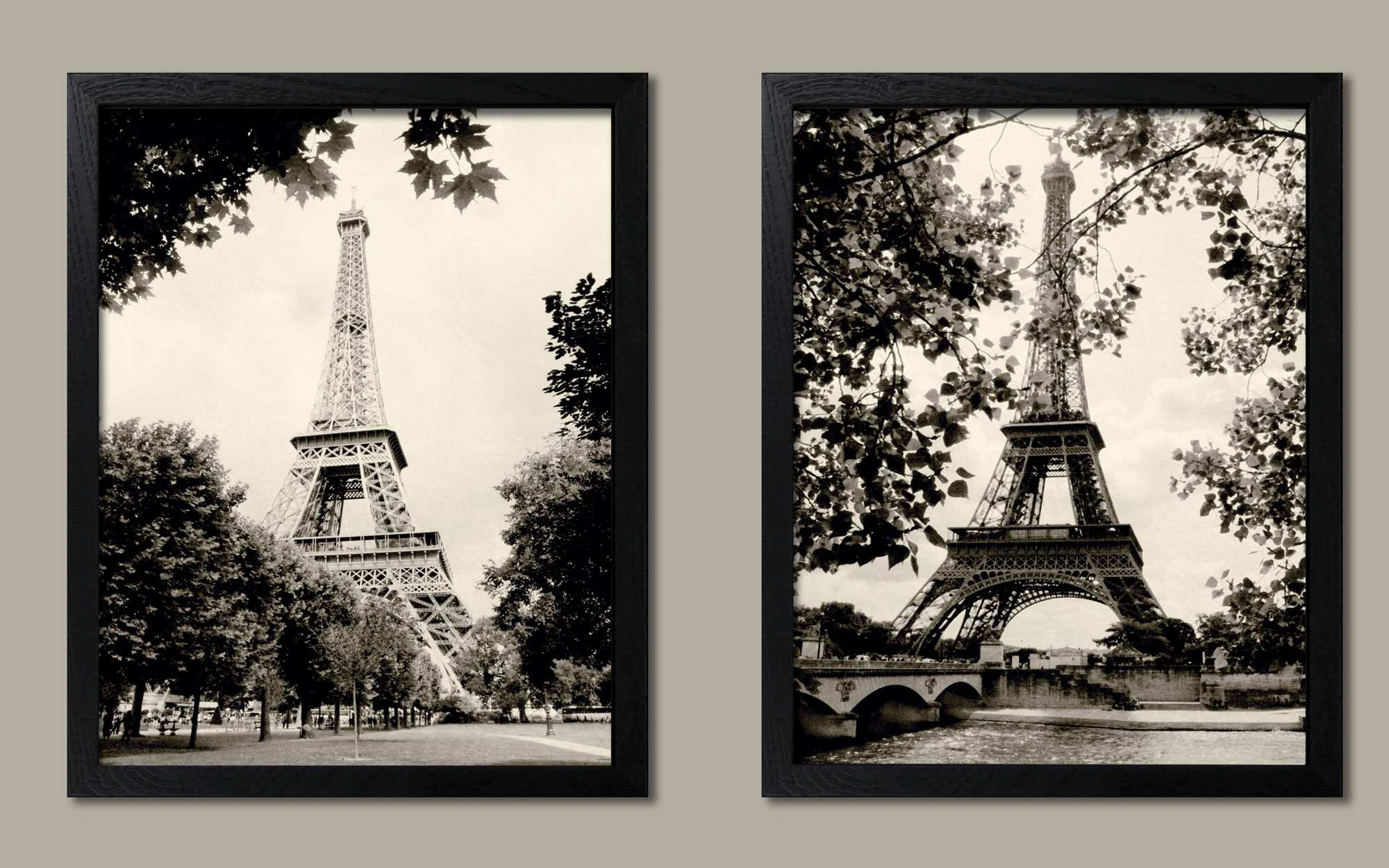 Stunningly beautiful black two framed 11x14 prints