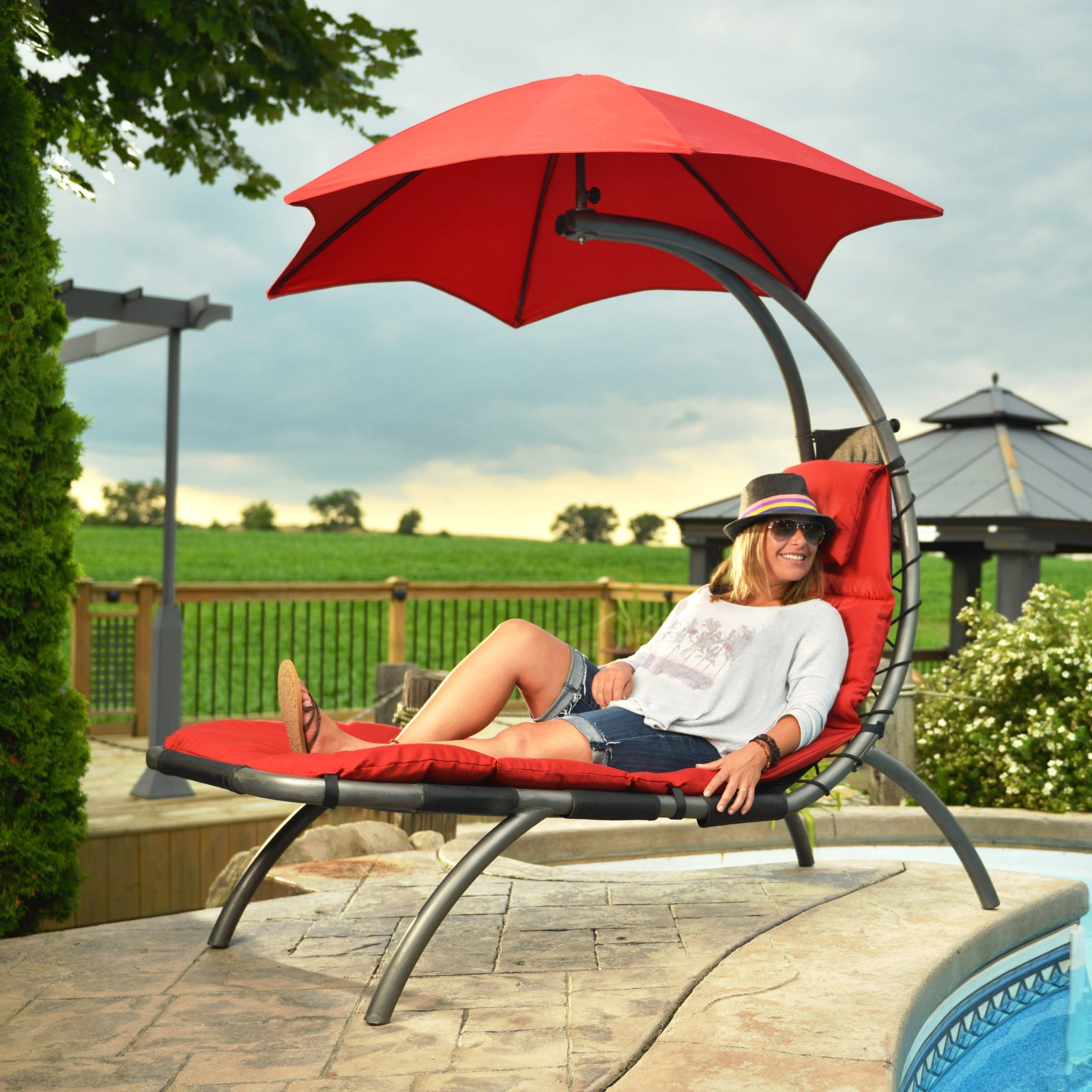 The Original Dream Lounger, Cherry Red