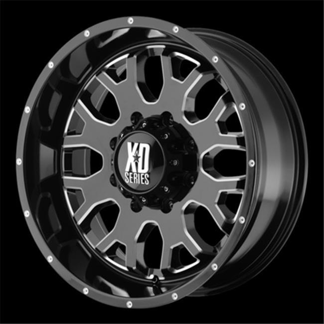 Wheel Pros 821080324N Xd808 Menace Wheel - Gloss Black With Milled Accents, 8 x 165. 10