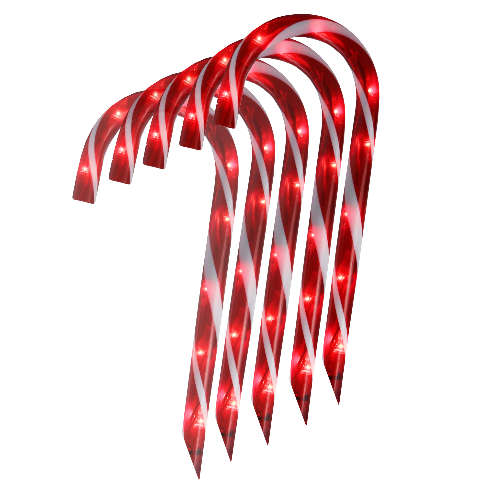 1 Christmas LED Candy Cane Christmas Necklace w//Battery Bright Light Weight
