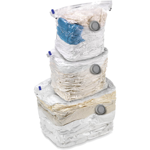 Honey Can Do Combo Set Vacuum Storage Bags, Clear (Pack of 3)