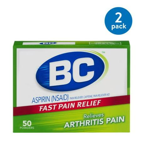 (2 Pack) BC Arthritis Strength Powder, 50 Ct