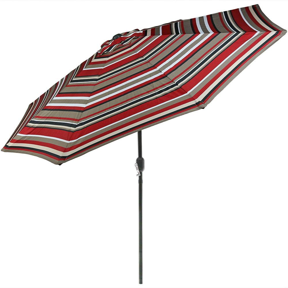 Sunnydaze 9-Foot Aluminum Patio Umbrella with Push Button Tilt & Crank by Sunnydaze Decor
