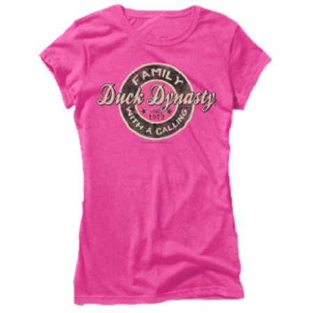 Club Red Ladies Duck Dynasty Short Sleeve Fitted Tshirt Family Call Pink 2Xlarge