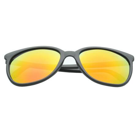MLC Eyewear Large Women Wayfarer Sunglasses Sporty Reflective Lens UV400