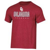 d5697fe3 Product Image Men's Russell Crimson Oklahoma Sooners Basic Logo Crew Neck T- Shirt