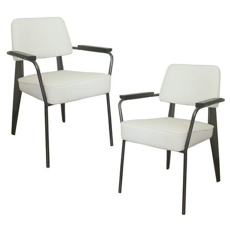 Tremendous Amerihome 2 Piece Fauteuil Direction Accent Chair Set White Inzonedesignstudio Interior Chair Design Inzonedesignstudiocom