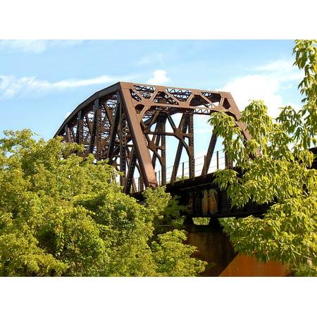 Canvas Print Railway Bridge Railroad Train Trestle Stretched Canvas 10 x