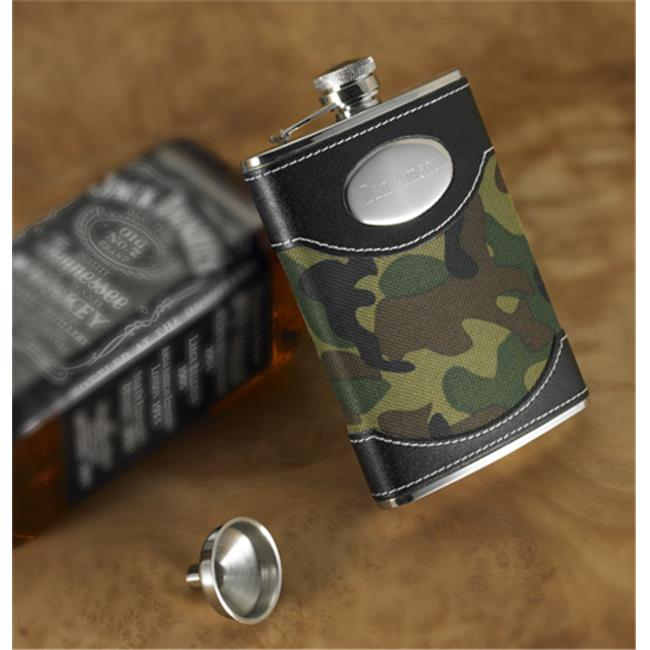 JDS Marketing and Sales BL638 Green Camouflage Flask
