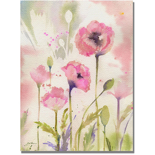 "Trademark Art ""Oriental Poppy Garden"" Canvas Wall Art by Shelia Golden"
