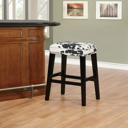 Linon Walt Cow Print Bar Stool, 30.5 inch Seat Height, Multiple Colors ()