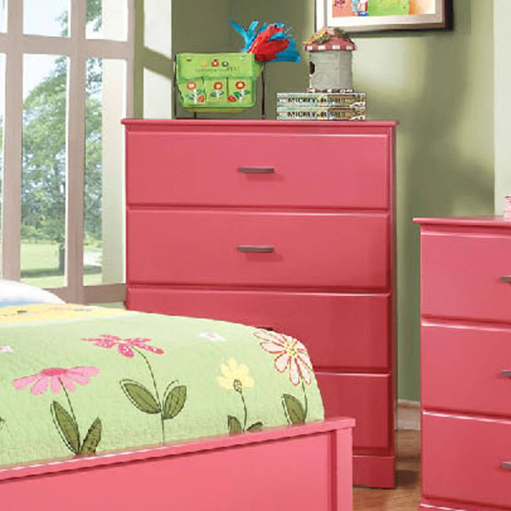 Prismo Chest of Drawers Finished in Pink
