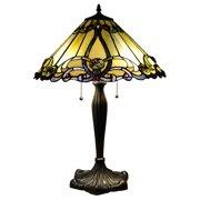 "CH1B518AV18-TL2 MAJESTIC GRANDEUR Tiffany-style 2 Light Victorian Table Lamp 18"" Shade"