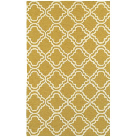 Tommy Bahama Atrium Area Rugs - 51112 Contemporary Gold Curves Waves Outdoor Diamonds Rug ()