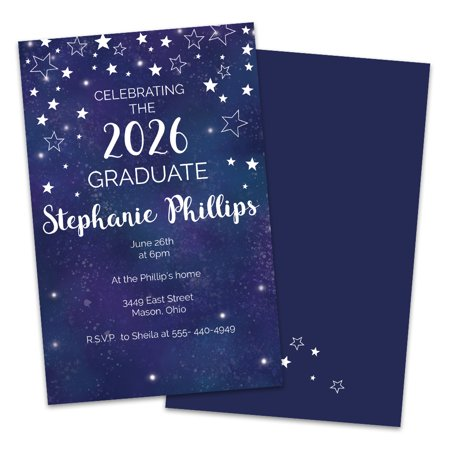 Personalized Night Sky Graduation Party Invitation