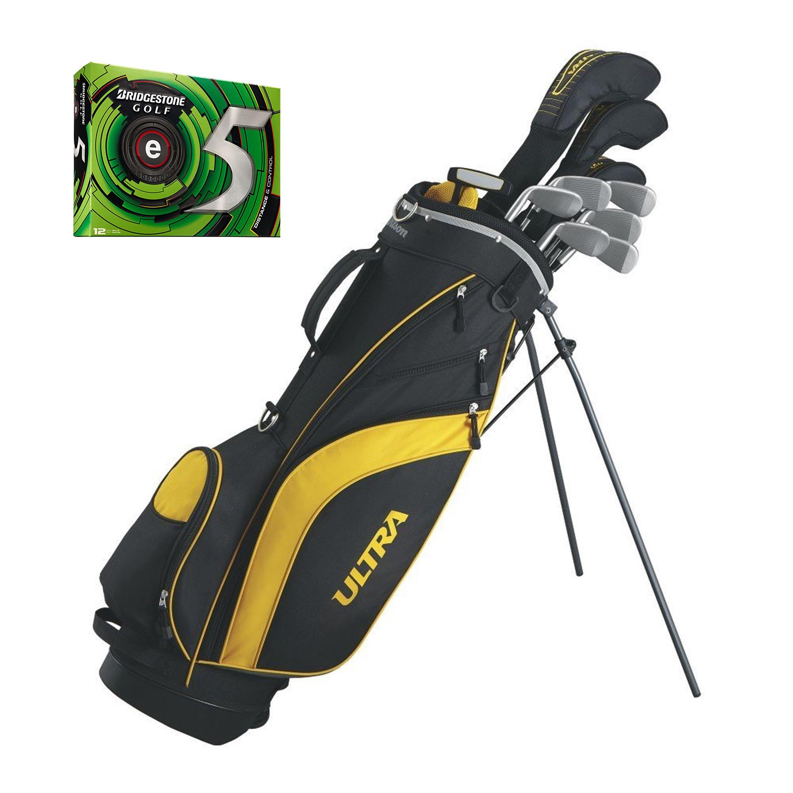 Wilson Ultra Mens Complete Right Handed Golf Club Set wit...