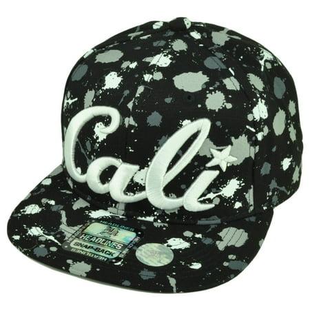 Paint Splatter Party Supplies (Cali California All Over Paint Splattered Hat Cap Cotton Snapback White)