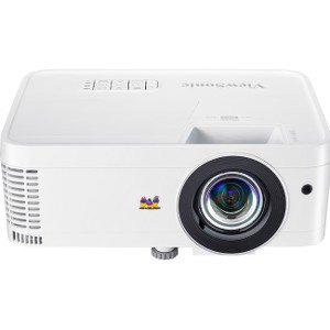 ViewSonic PX706HD 1080p Projector Short Throw with 3000 Lumens 22,000:1 DLP 3D Dual HDMI USB C and Low Input Lag for Home Theater and
