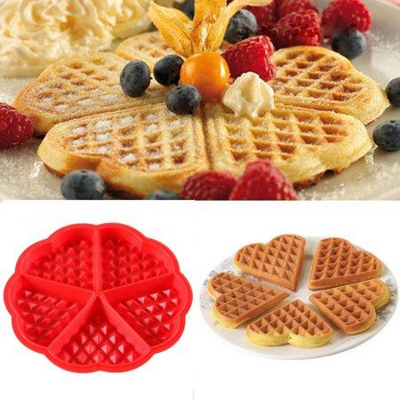 Mini Cake Mold (Tuscom Kitchen Silicone Mini Round Waffles Pan Cake Baking Mould Mold Waffle Tray)