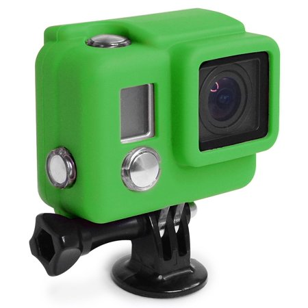 XSories Silicone Cover HD3+, Cover Fits All GoPro 3, GoPro 3+ Camera Housings, GoPro Accessories, GoPro 3 Accessories, GoPro 3+ Accessories (Green) (Camera Housing Light)