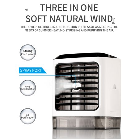 Evaporative Portable Air Conditioner Cooler Fan Humidifier - image 8 of 20