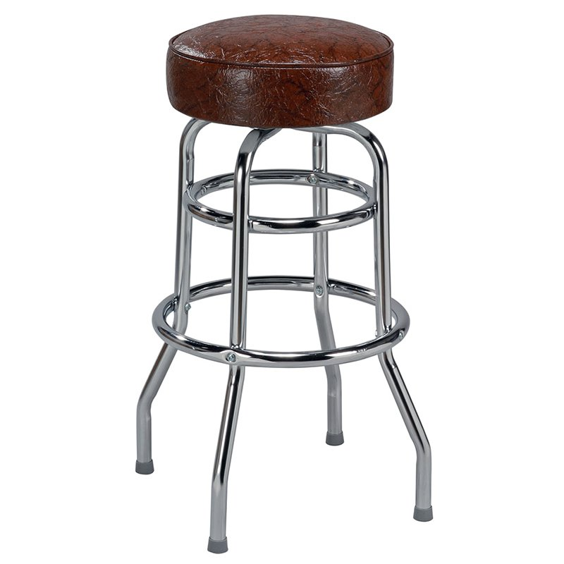 Regal Retro Soda Fountain 26 in. Retro Metal Backless Counter Stool