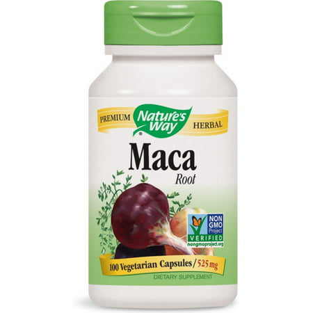Nature's Way Maca Root Vegetarian Capsules 525 mg 100 (Best Maca Root For Bigger Booty)